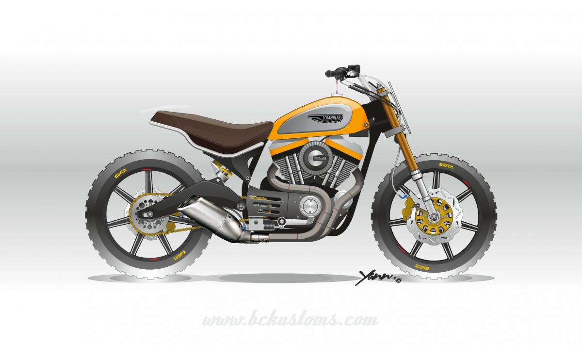 2015 BCK Racing Scrambler Sportster 14032016