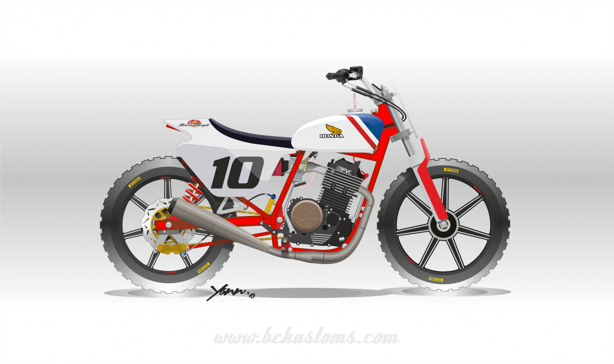 honda XL600 PD04 tracker flattrack bckustoms